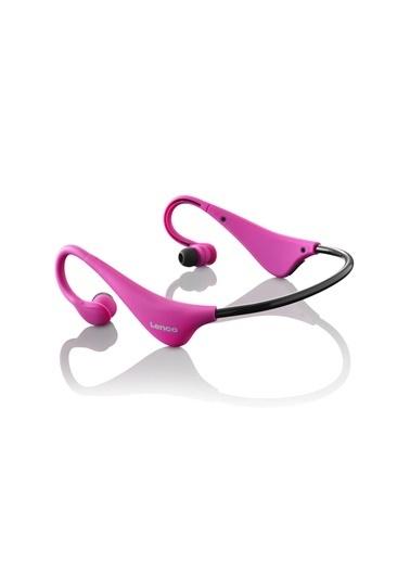 Lenco BH-100 Ense Tipi Kablosuz Bluetooth Headset Kulaklık Pembe Pembe